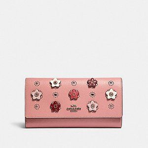 Coach Trifold Wallet with Daisy Applique 91584